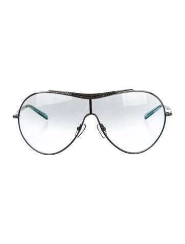 Metallic Shield Sunglasses