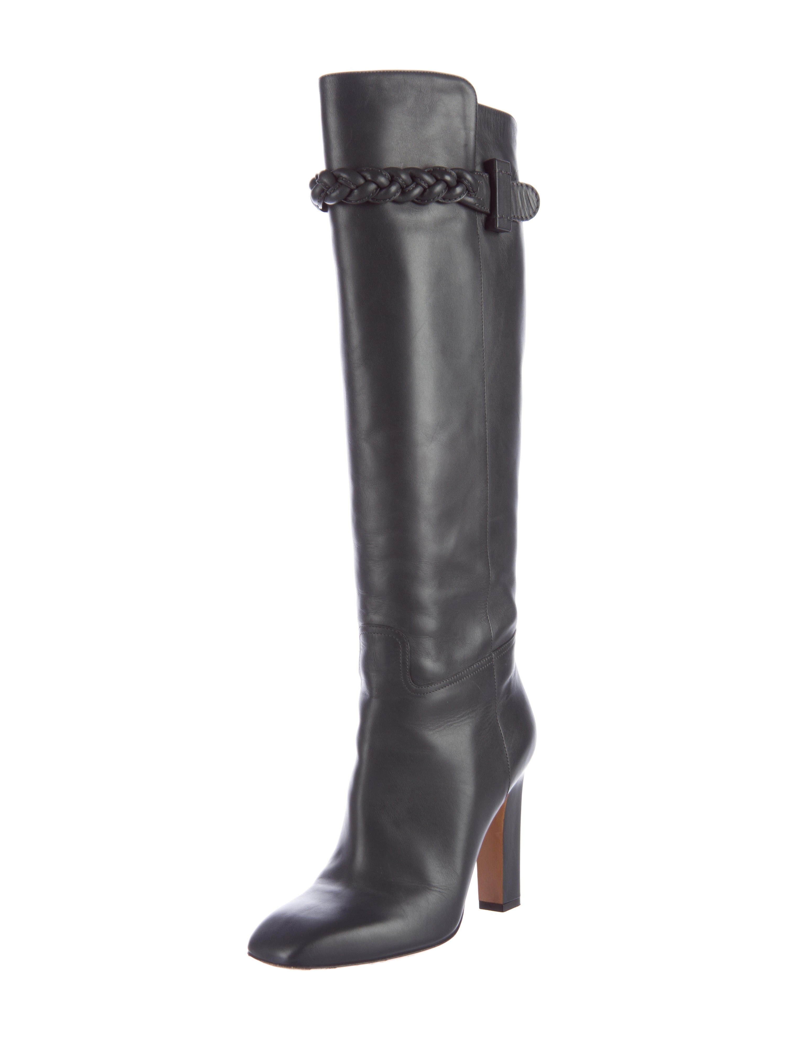 valentino leather knee high boots shoes val58517 the
