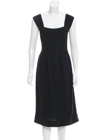Valentino Wool & Silk-Blend Dress None