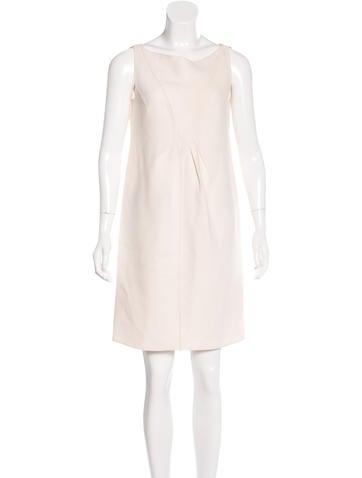Valentino Sleeveless Wool Dress None