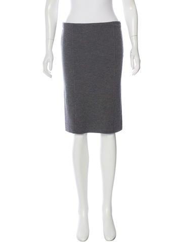 Valentino Merino Wool Pencil Skirt None