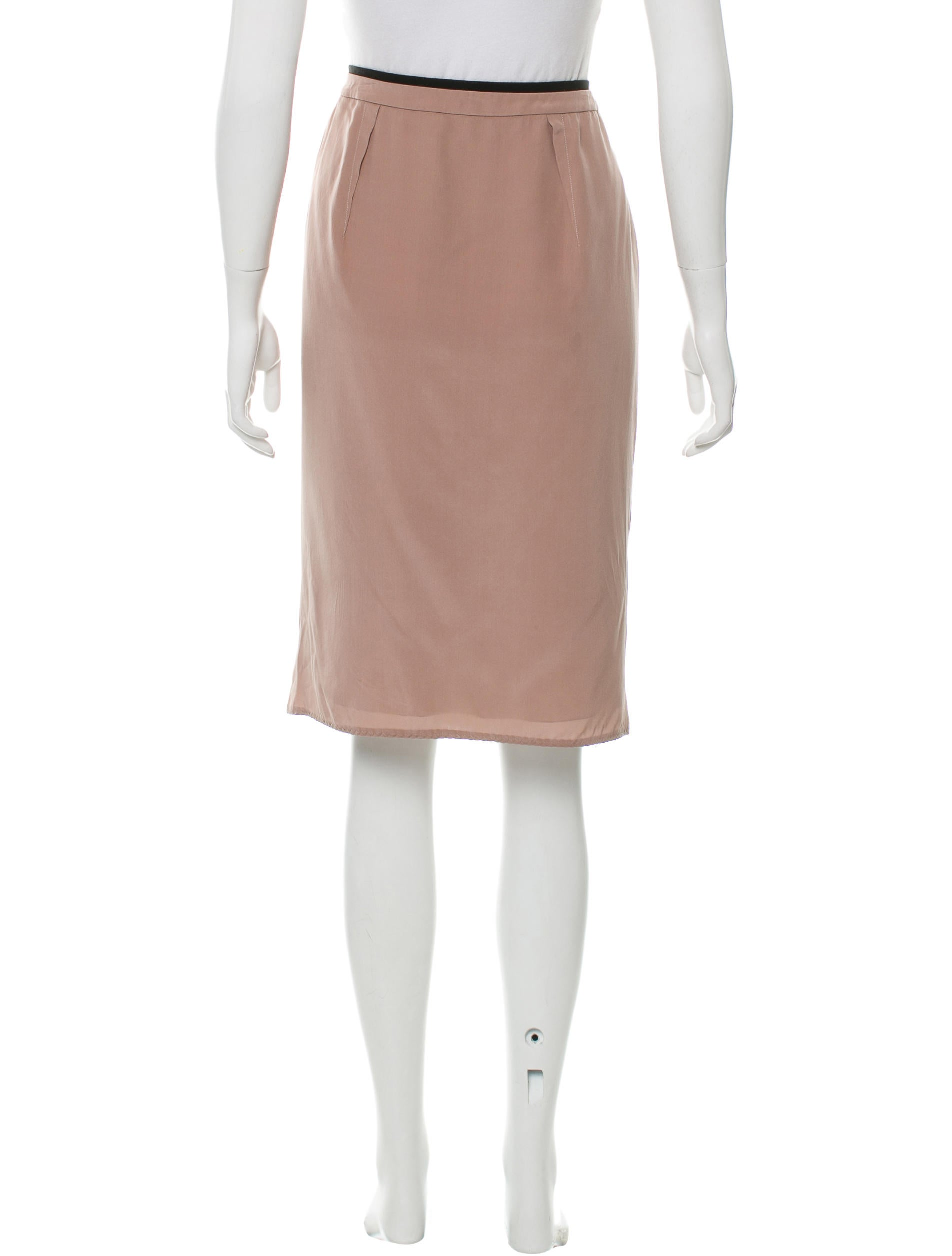 valentino pleated knee length skirt clothing val58703