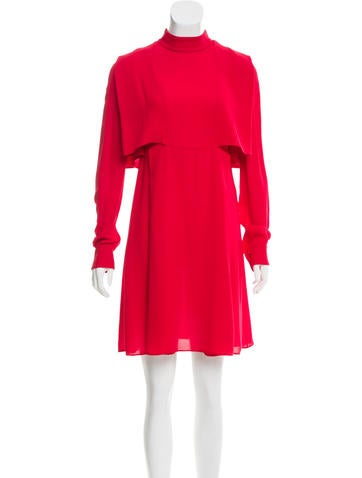 Valentino Silk Cape Dress w/ Tags None