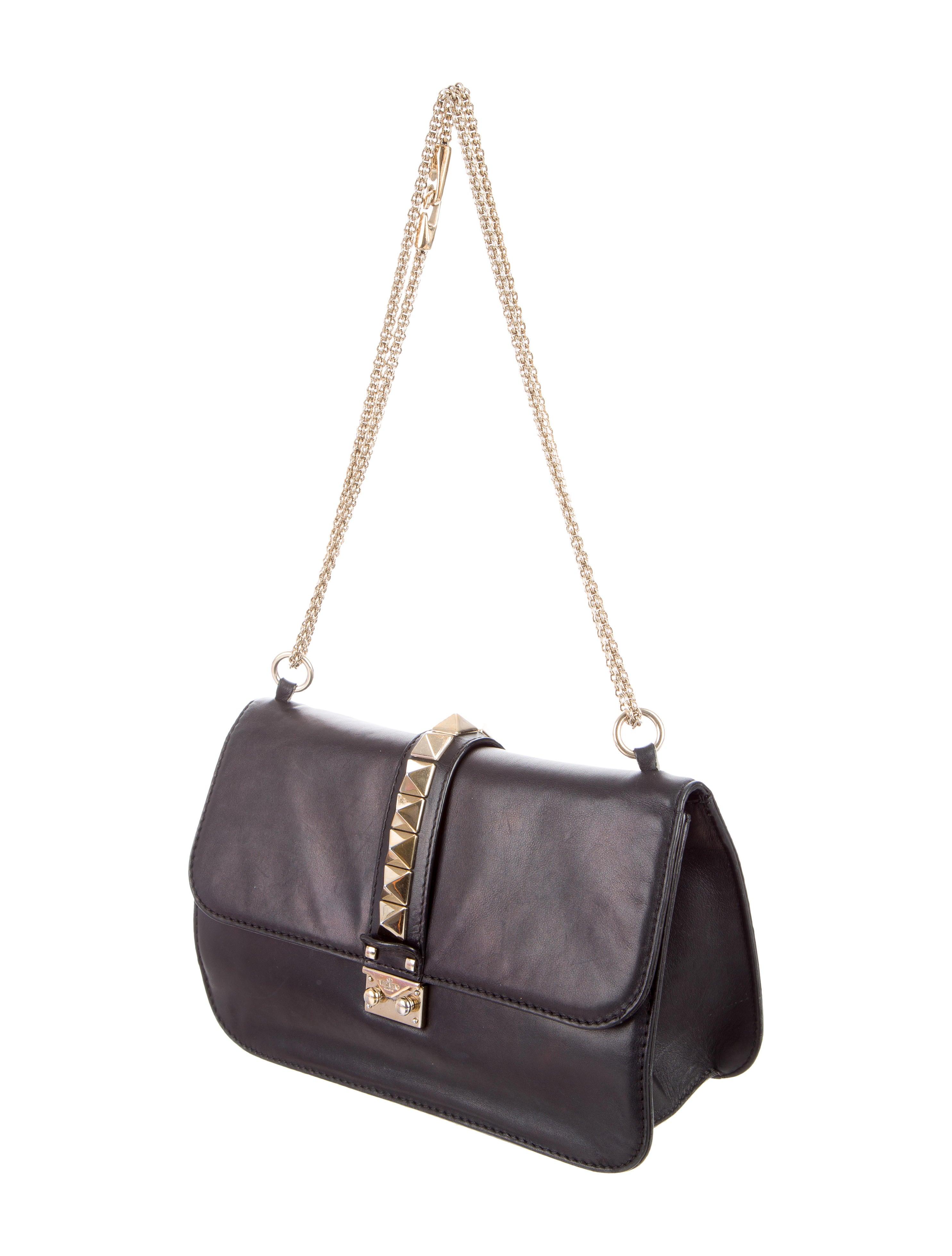 valentino medium lock rockstud bag handbags val58917 the realreal. Black Bedroom Furniture Sets. Home Design Ideas