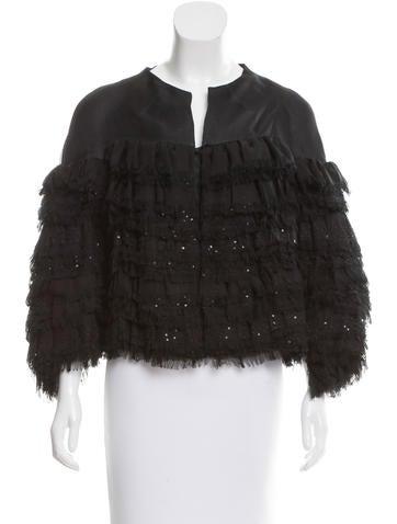 Valentino Layered Silk Jacket w/ Tags None