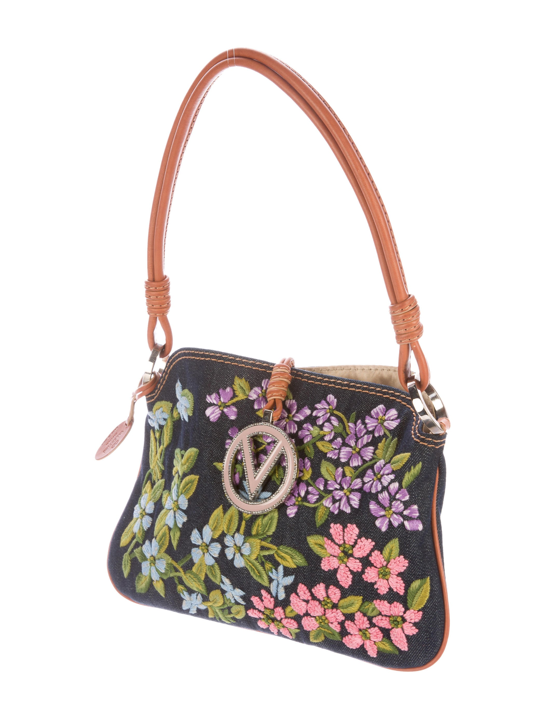 Valentino Floral Embroidered Shoulder Bag - Handbags - VAL59423 | The RealReal