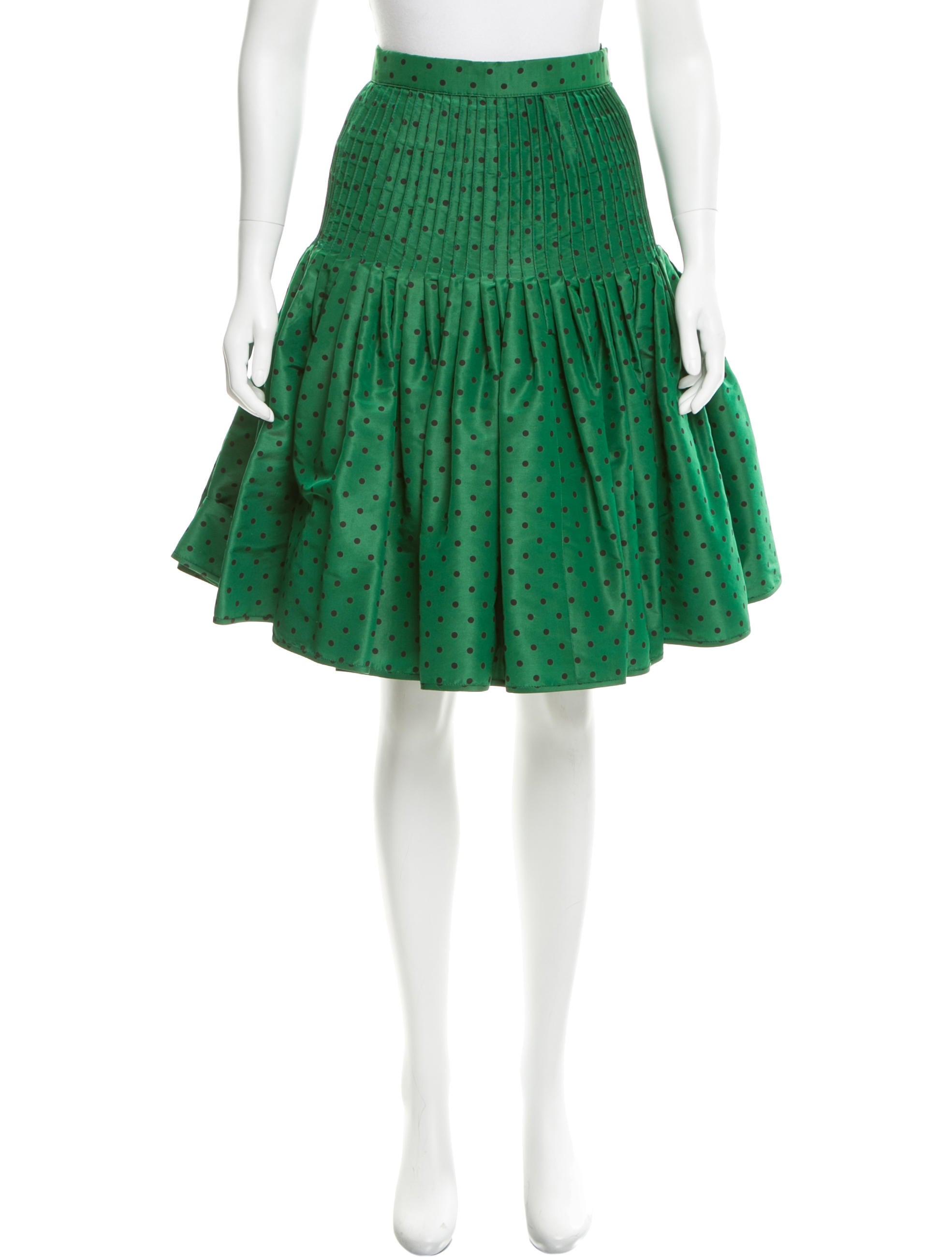 valentino pleated polka dot print skirt clothing