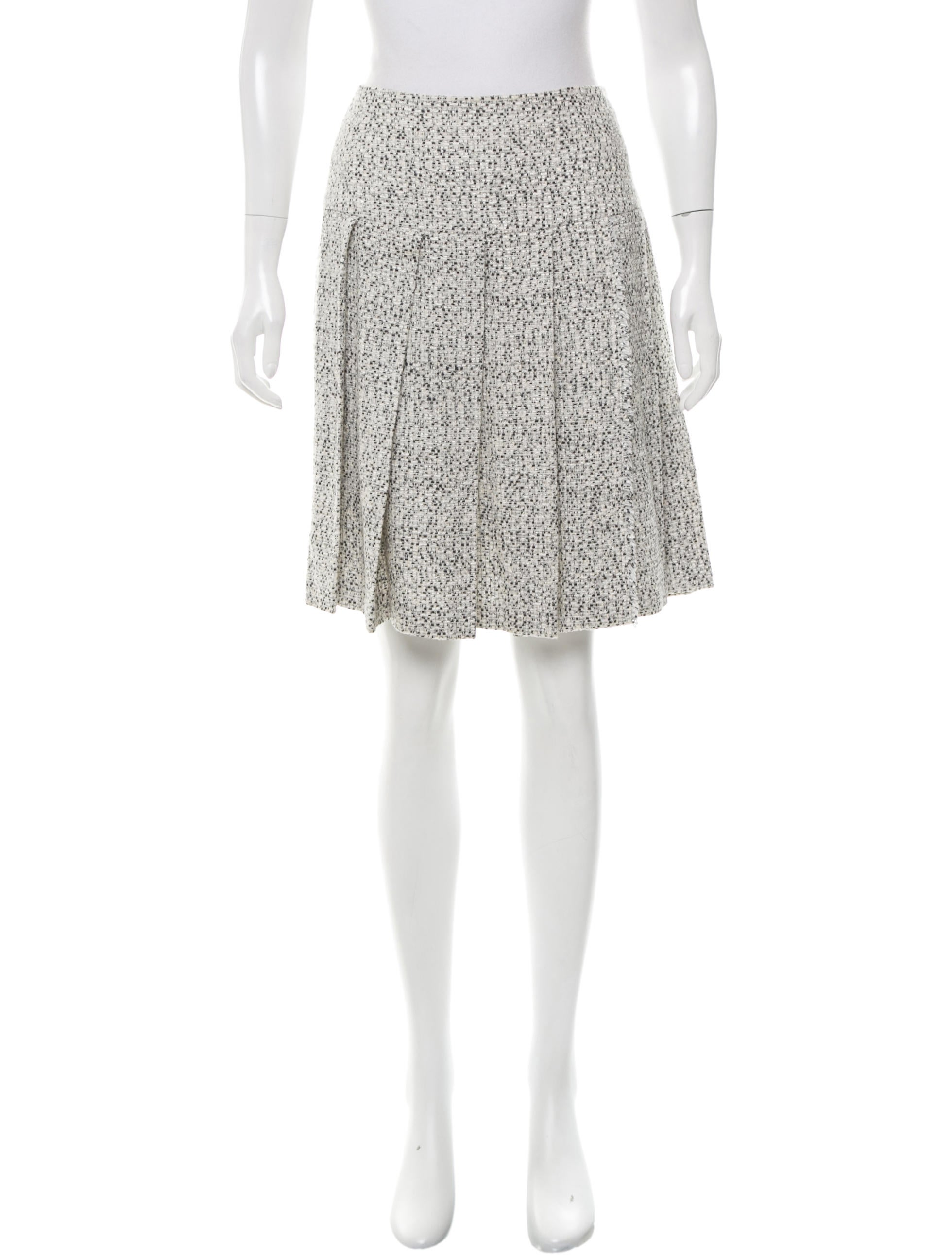 valentino pleated tweed skirt clothing val59661 the