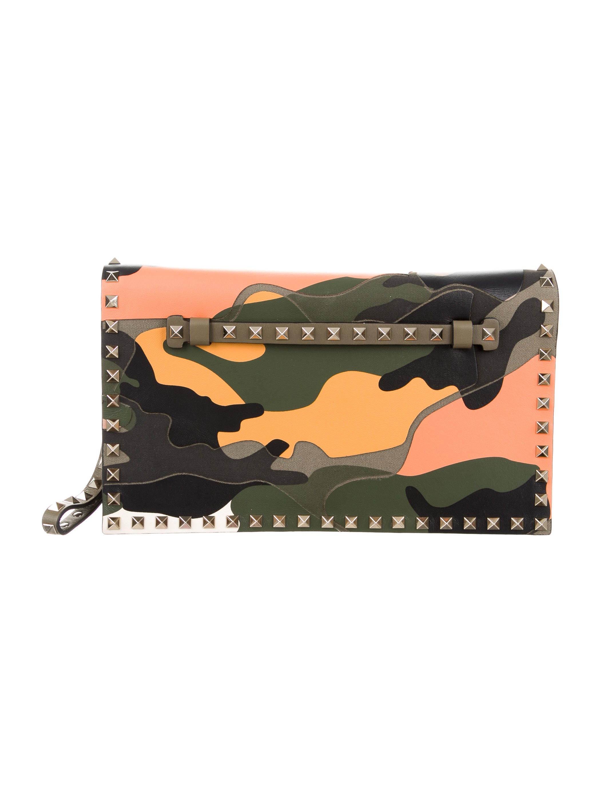 Valentino 2015 psychedelic camo rockstud clutch w tags for Cama quinsay