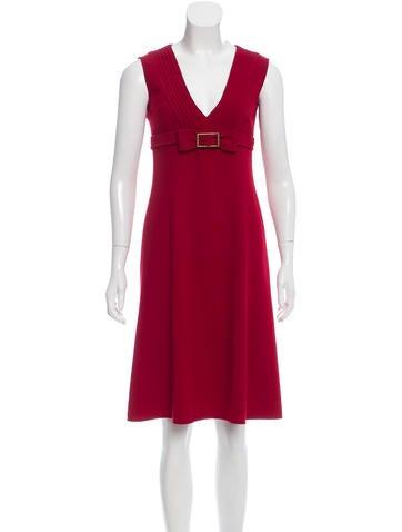 Valentino Wool A-Line Dress None
