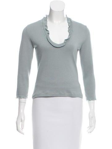 Valentino Wool & Silk-Blend Top None