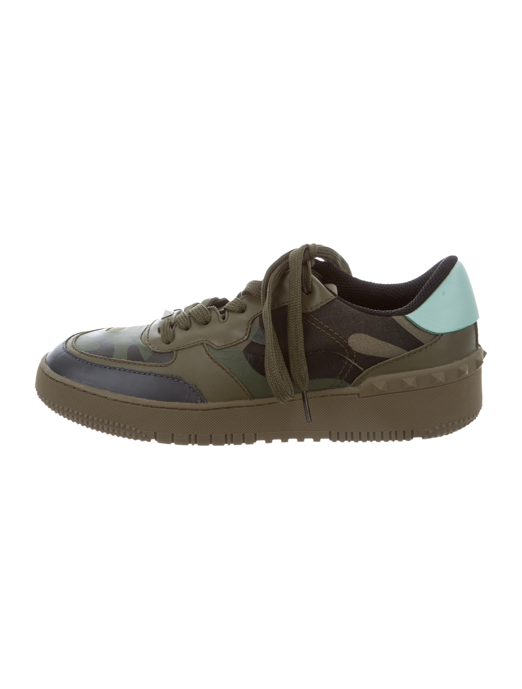 Valentino Camouflage Rockstud Sneakers Shoes Val60457