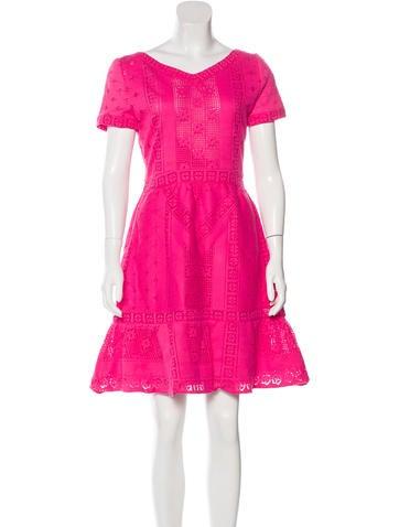 Valentino Crochet A-Line Dress None