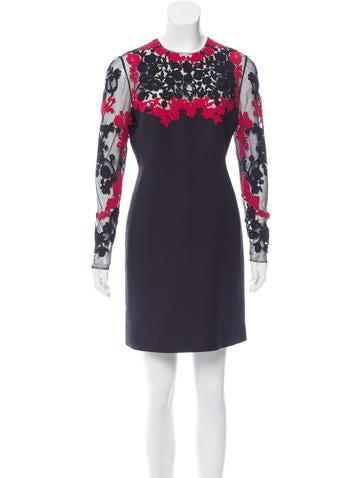Valentino Beaded Mini Dress None