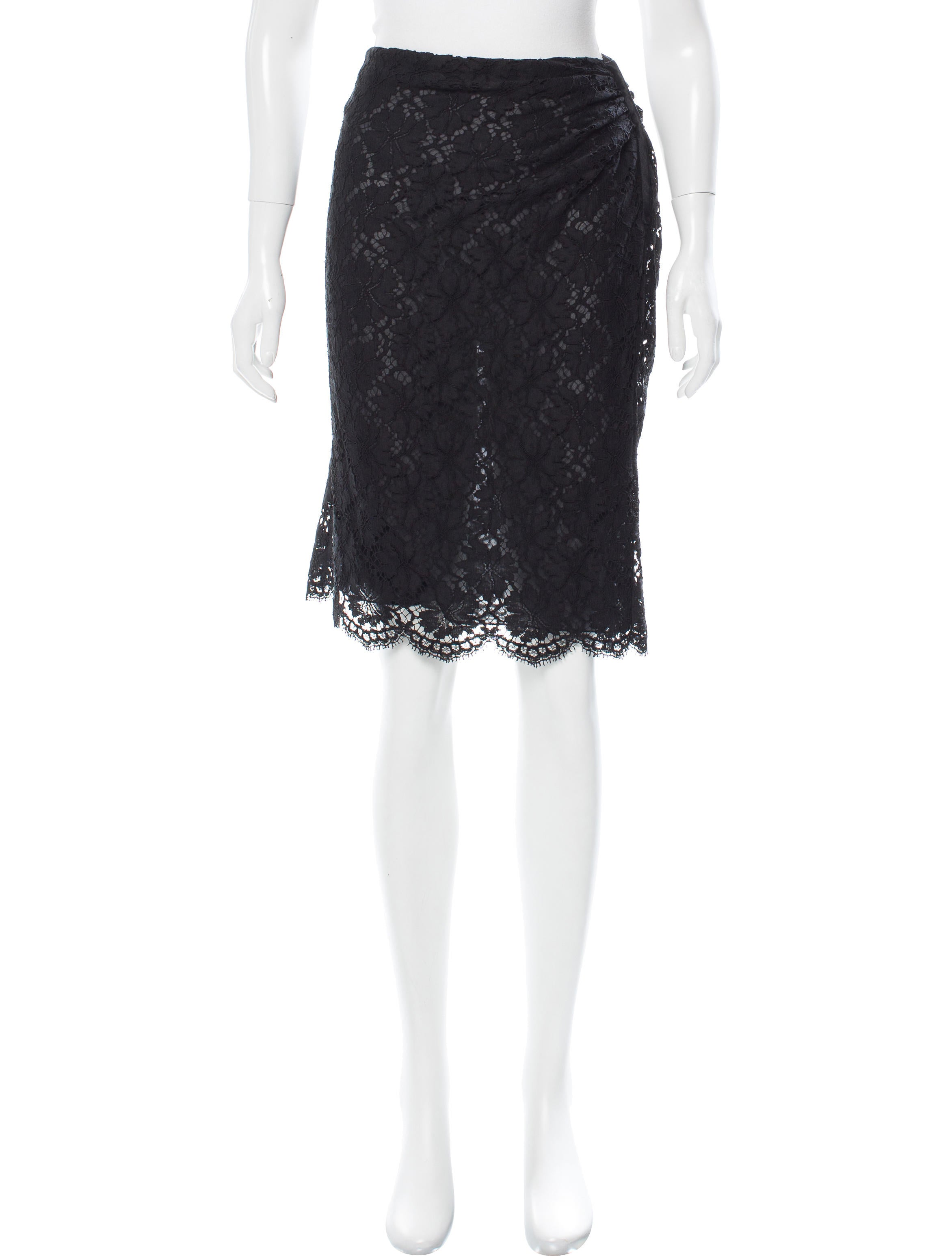 valentino knee length lace skirt clothing val61466
