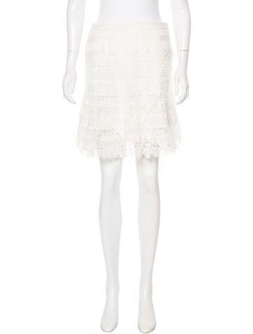 Valentino Crochet Mini Skirt None