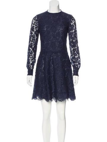 Valentino Lace A-Line Dress None