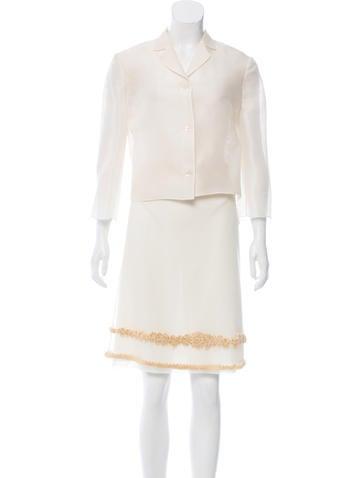 Valentino Embroidered Silk Set None