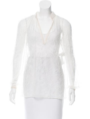 Valentino Long Sleeve Lace Top w/ Tags None