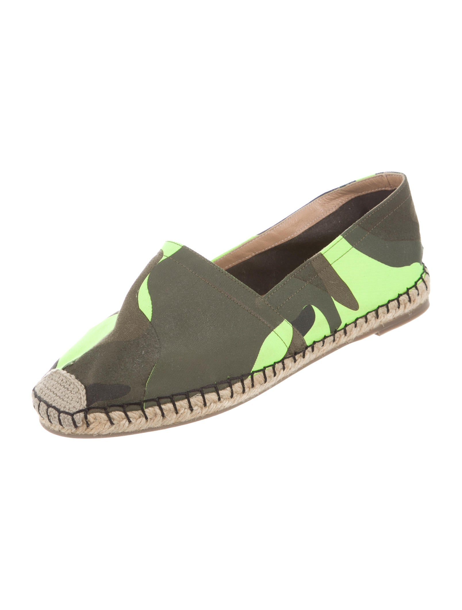 Valentino psychedelic camouflage espadrilles shoes for Cama quinsay