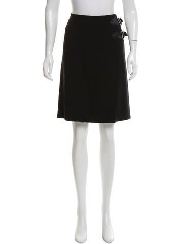 Valentino Embellished Virgin Wool Skirt None