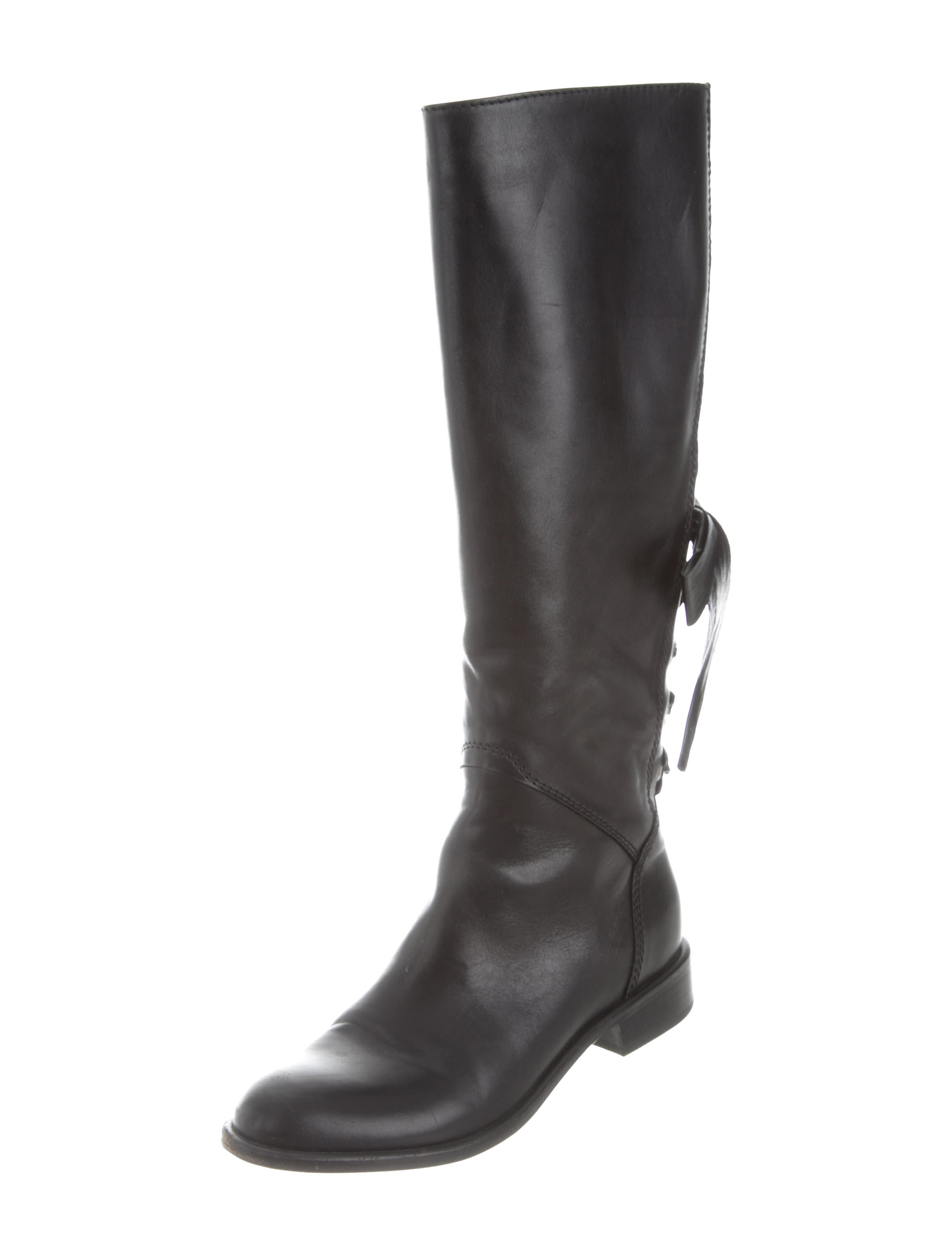 valentino bow accented knee high boots shoes val62435