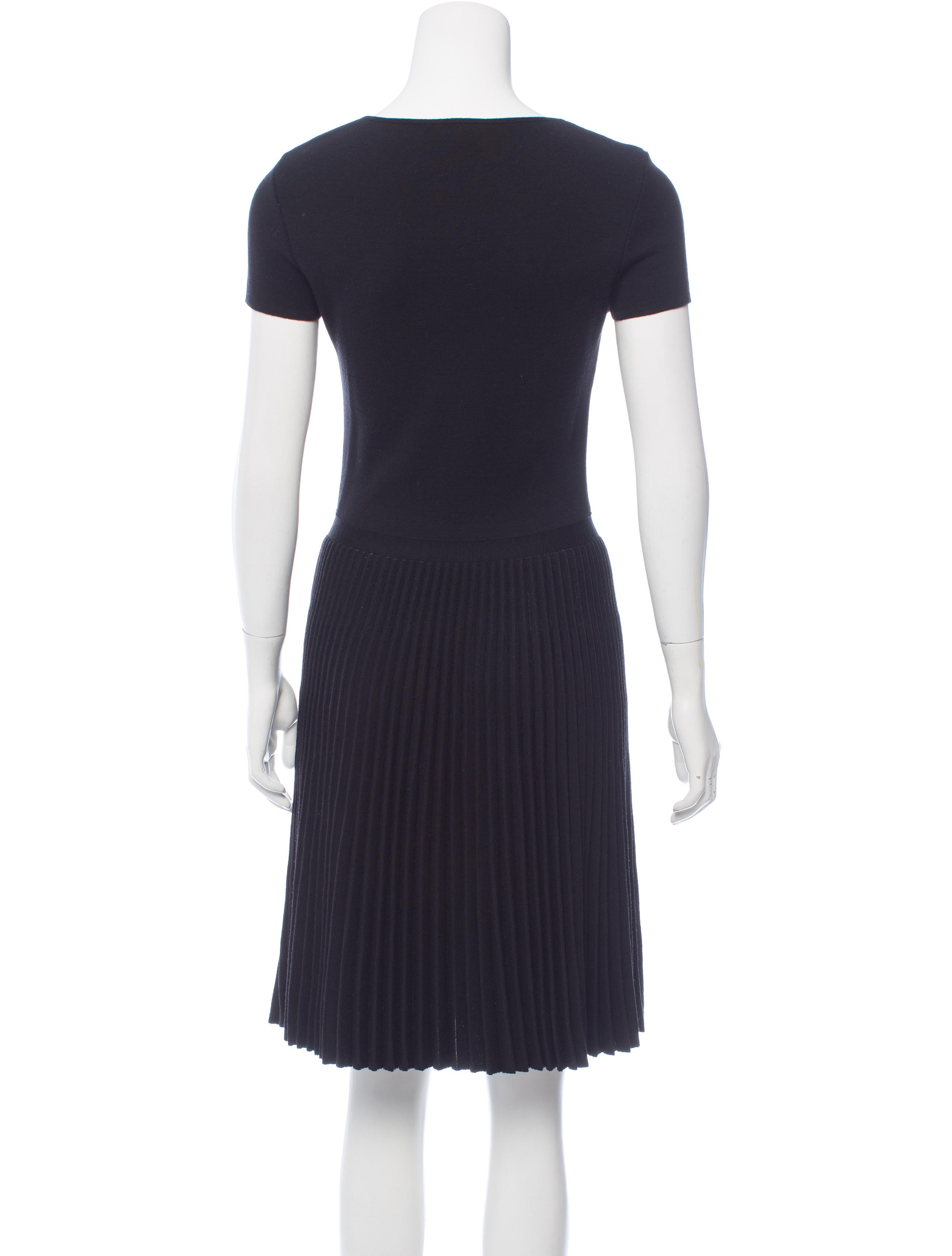 valentino wool pleated dress clothing val62570 the