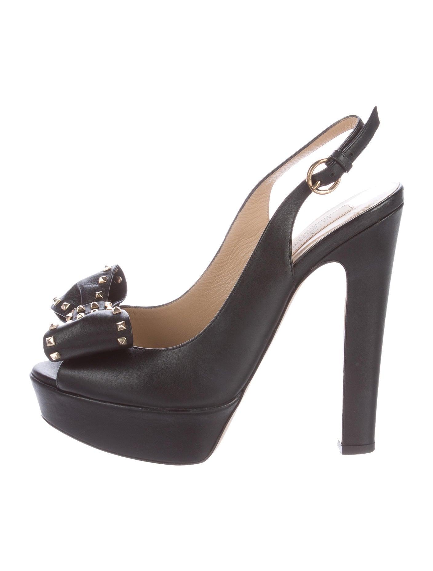 valentino rockstud slingback pumps shoes val63194. Black Bedroom Furniture Sets. Home Design Ideas