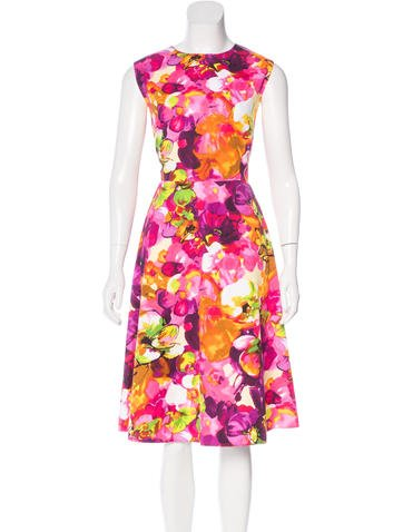 Valentino Floral Print A-Line Dress w/ Tags None