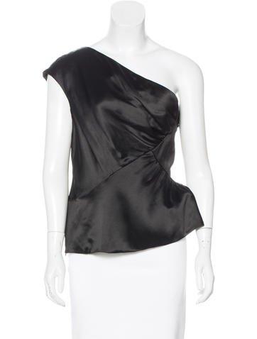Valentino Silk One-Shoulder Top None