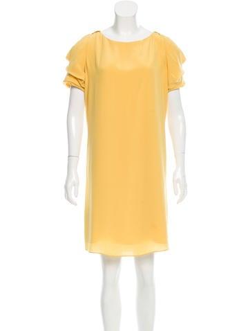 Valentino Silk Ruffle-Tiered Dress None