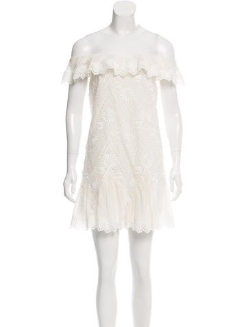 Valentino Off-The Shoulder Embroidered Dress w/ Tags None