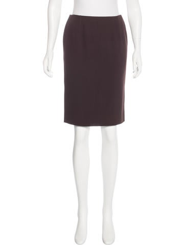 Valentino Virgin Wool Pencil Skirt None