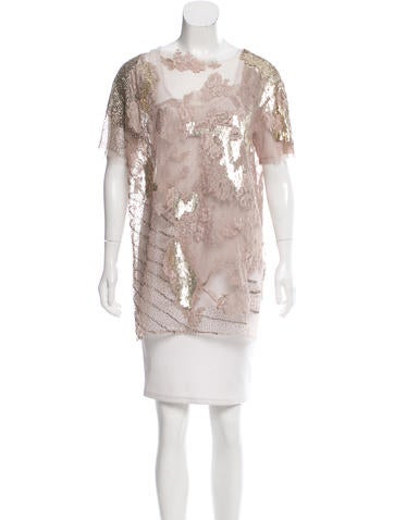 Valentino Lace Embellished Top None