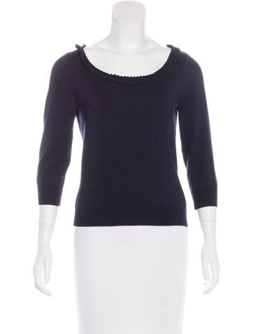Valentino Pleated Long Sleeve Top None