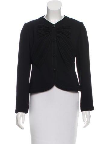 Valentino Virgin Wool Evening Jacket None
