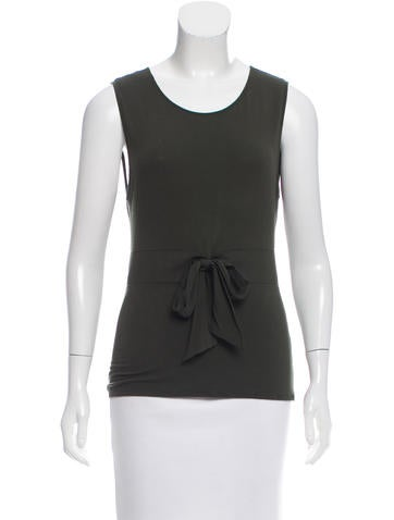 Valentino Sleeveless Bow-Accented Top None