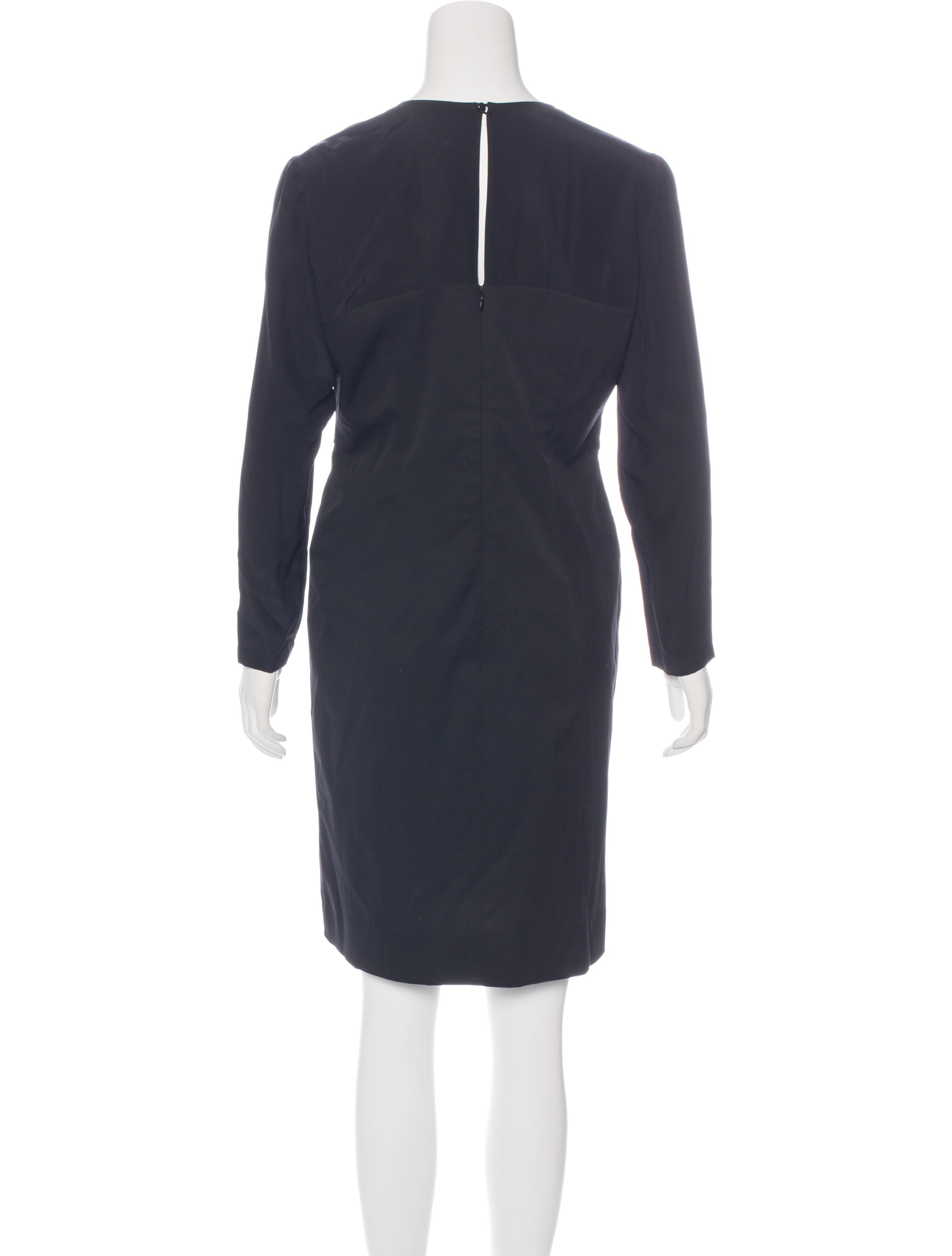 Valentino Silk Knee Length Dress Clothing Val63950