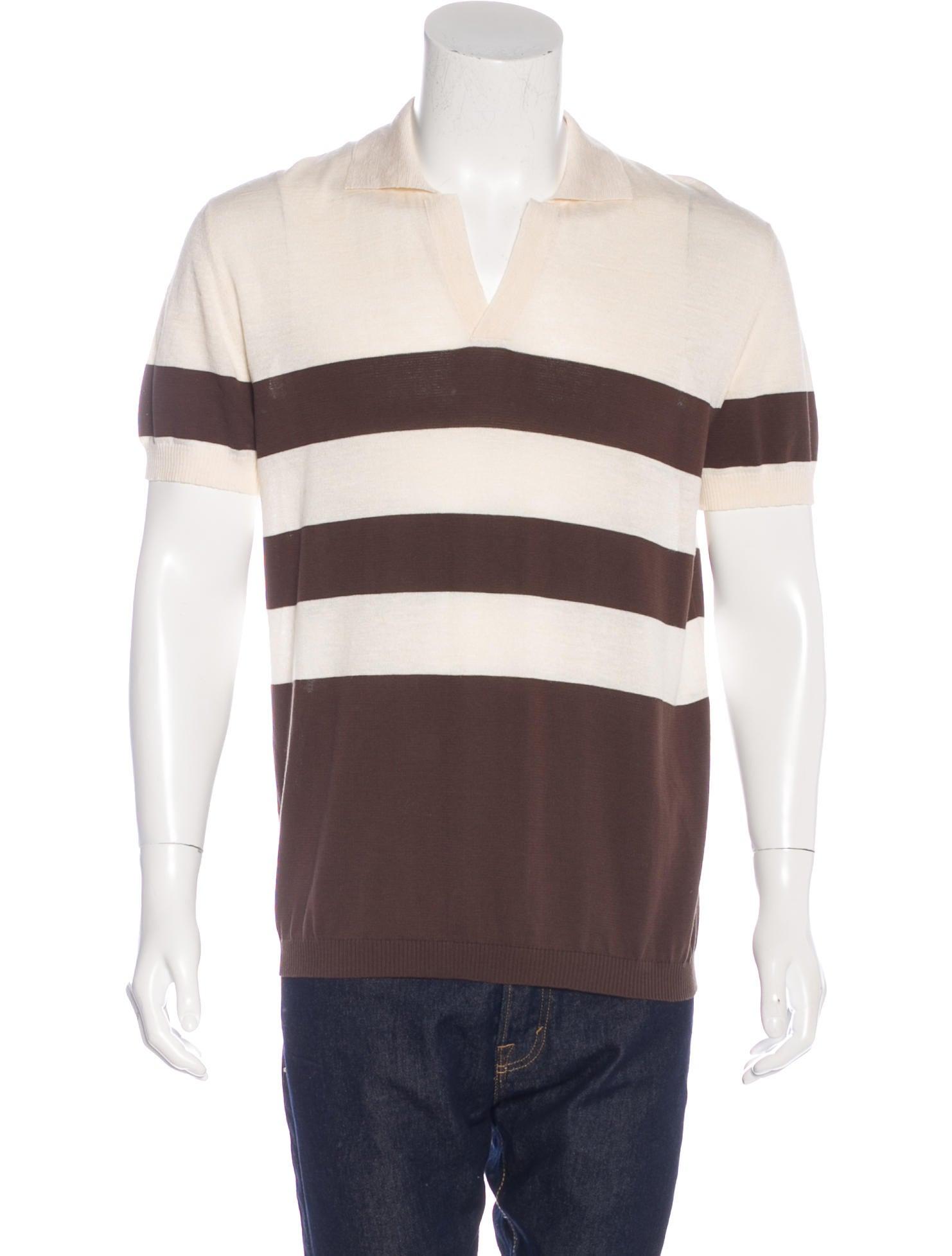 Valentino Silk Blend Polo Shirt Clothing Val64000
