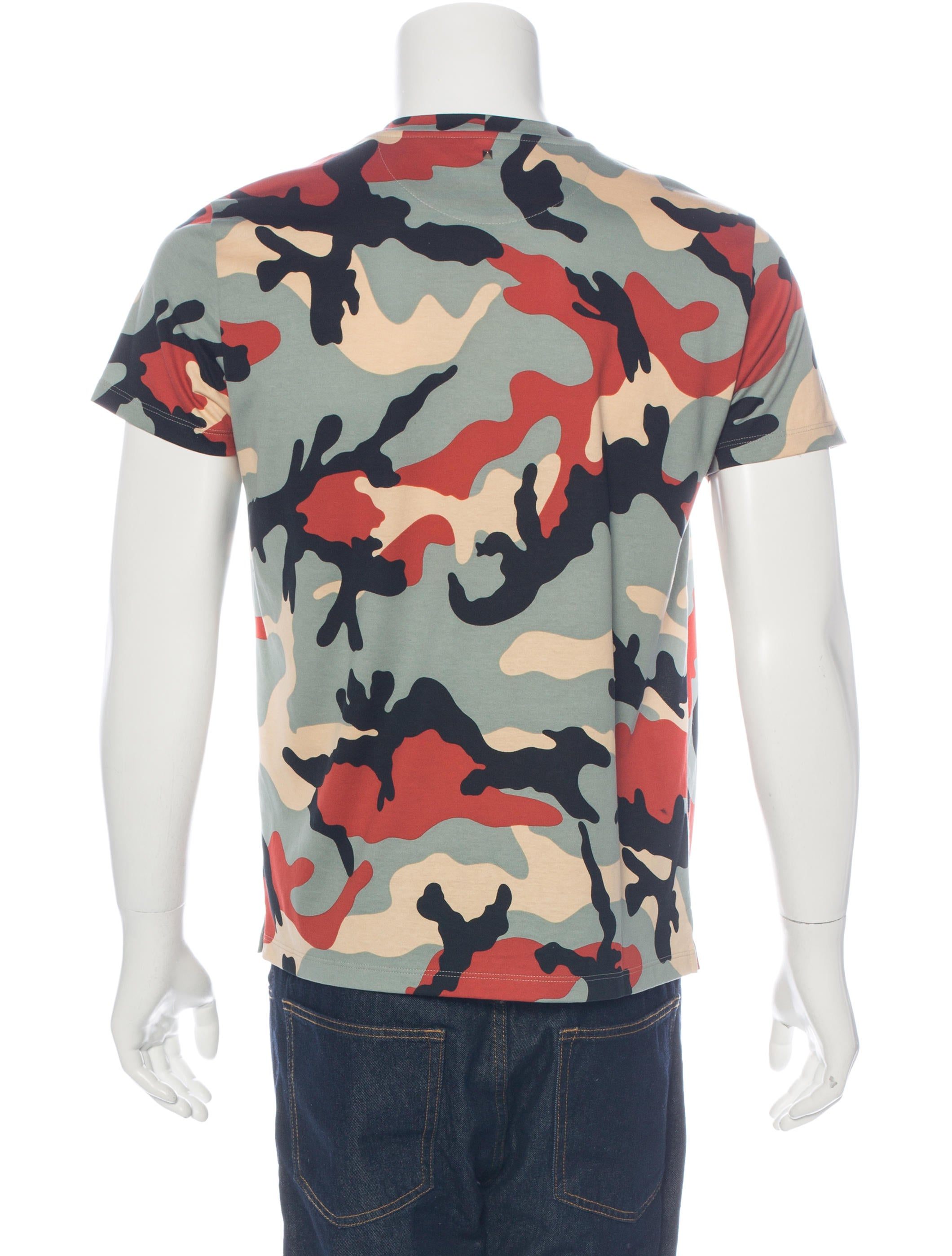 Valentino camouflage print t shirt clothing val64169 for Camouflage t shirt printing