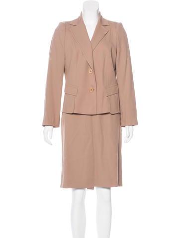 Valentino Virgin Wool Skirt Suit None