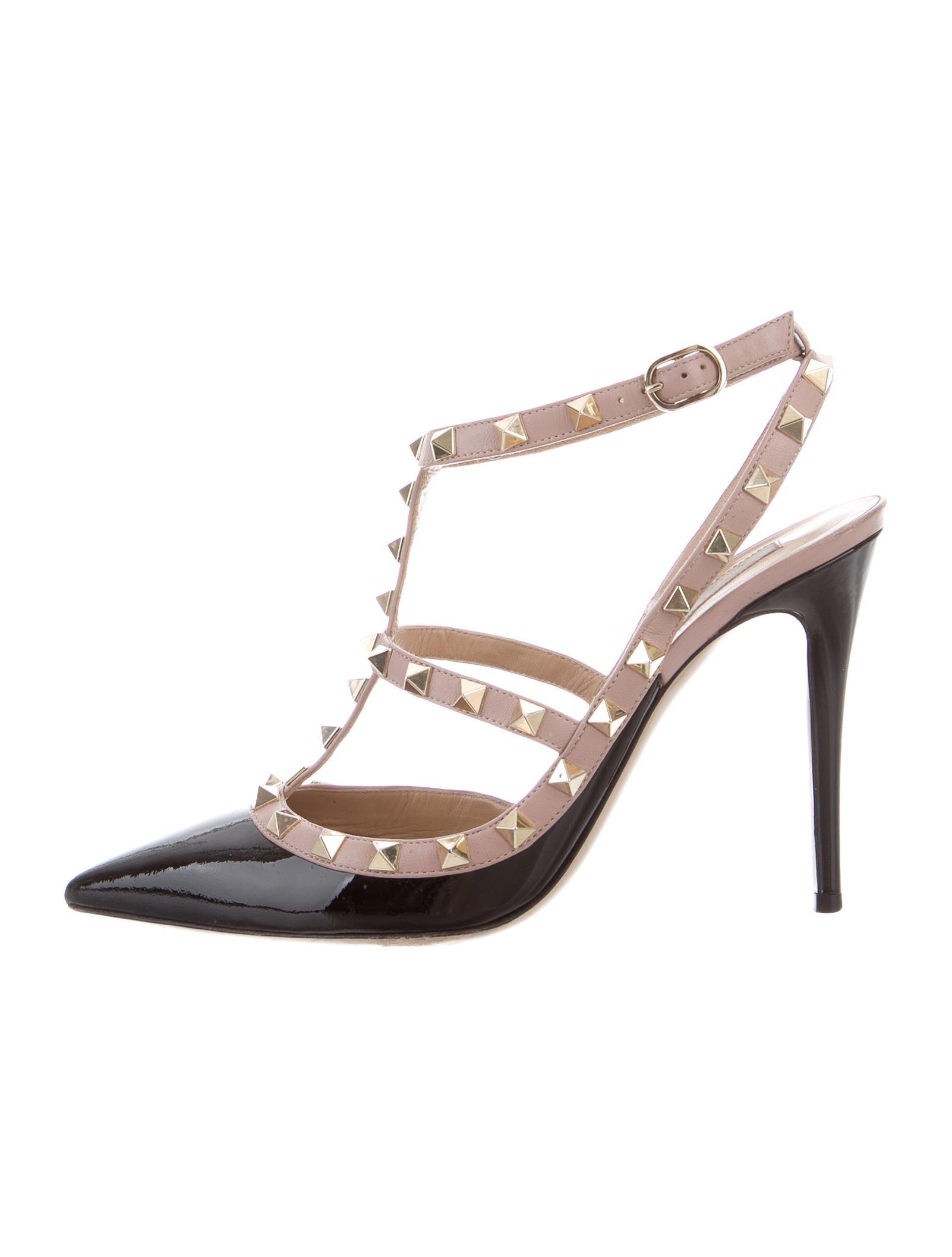 valentino rockstud pointed toe pumps shoes val64401. Black Bedroom Furniture Sets. Home Design Ideas