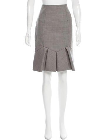 Valentino Patterned Virgin Wool Skirt None