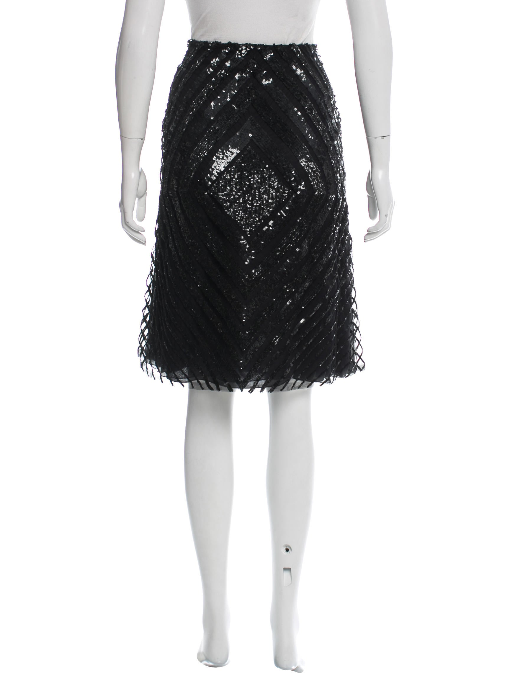 valentino sequined a line skirt clothing val64619