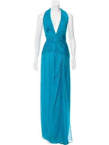 Valentino Silk Halter Dress w/ Tags None