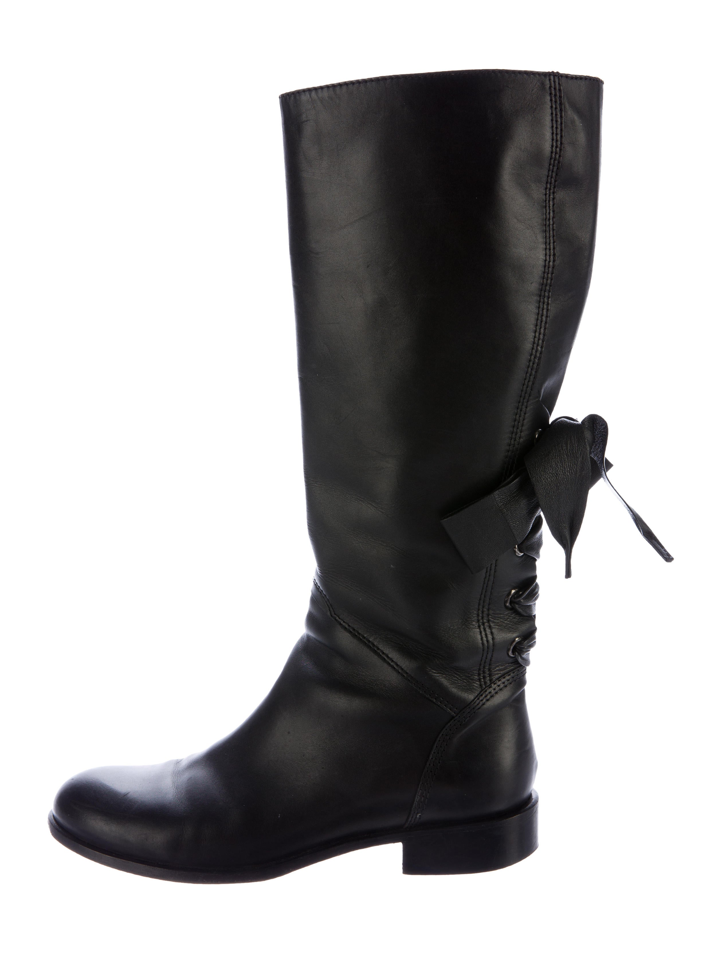 Valentino Bow-Accented Knee-High Boots buy cheap visa payment SlT4gIf