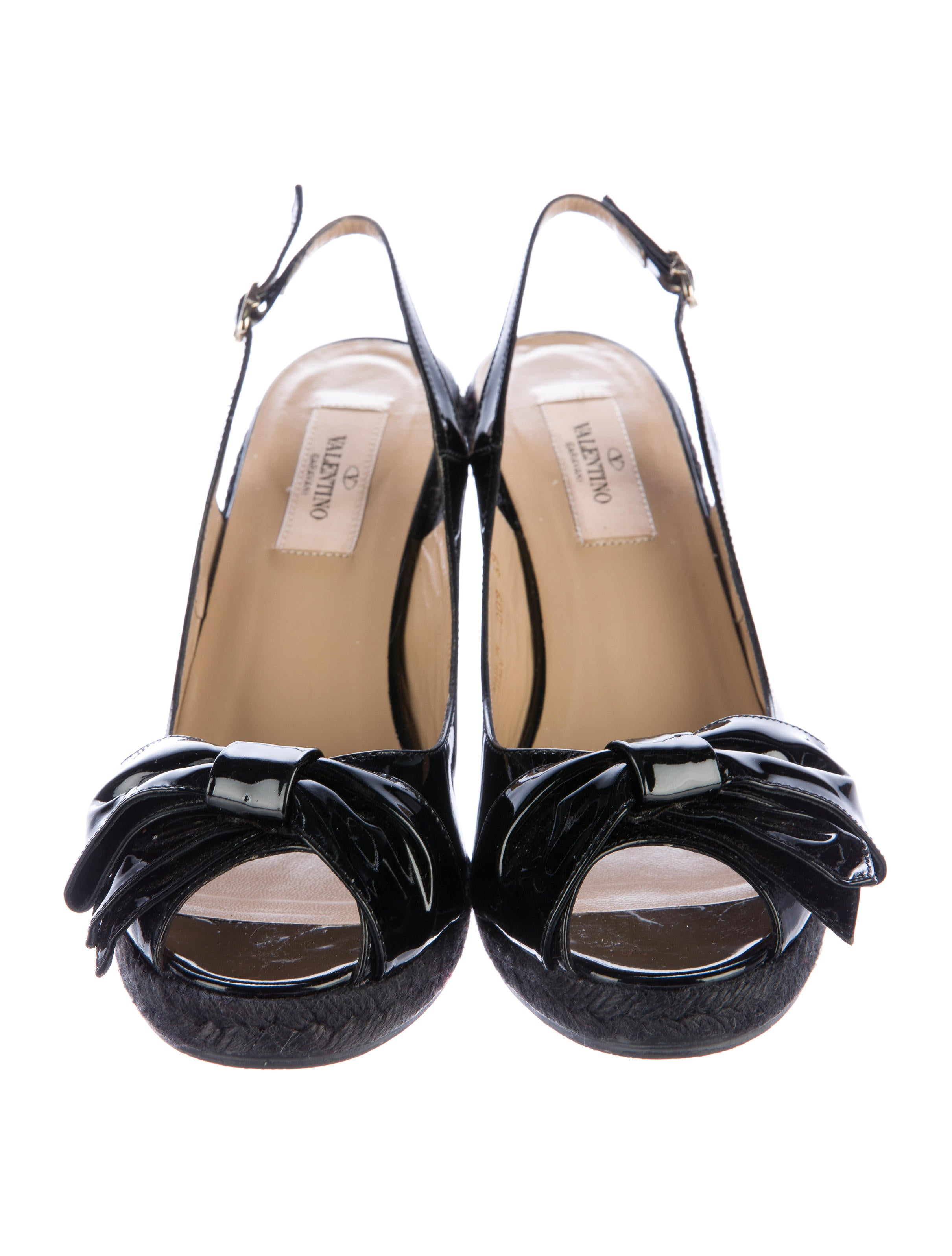 valentino espadrille bow wedges shoes val64933 the