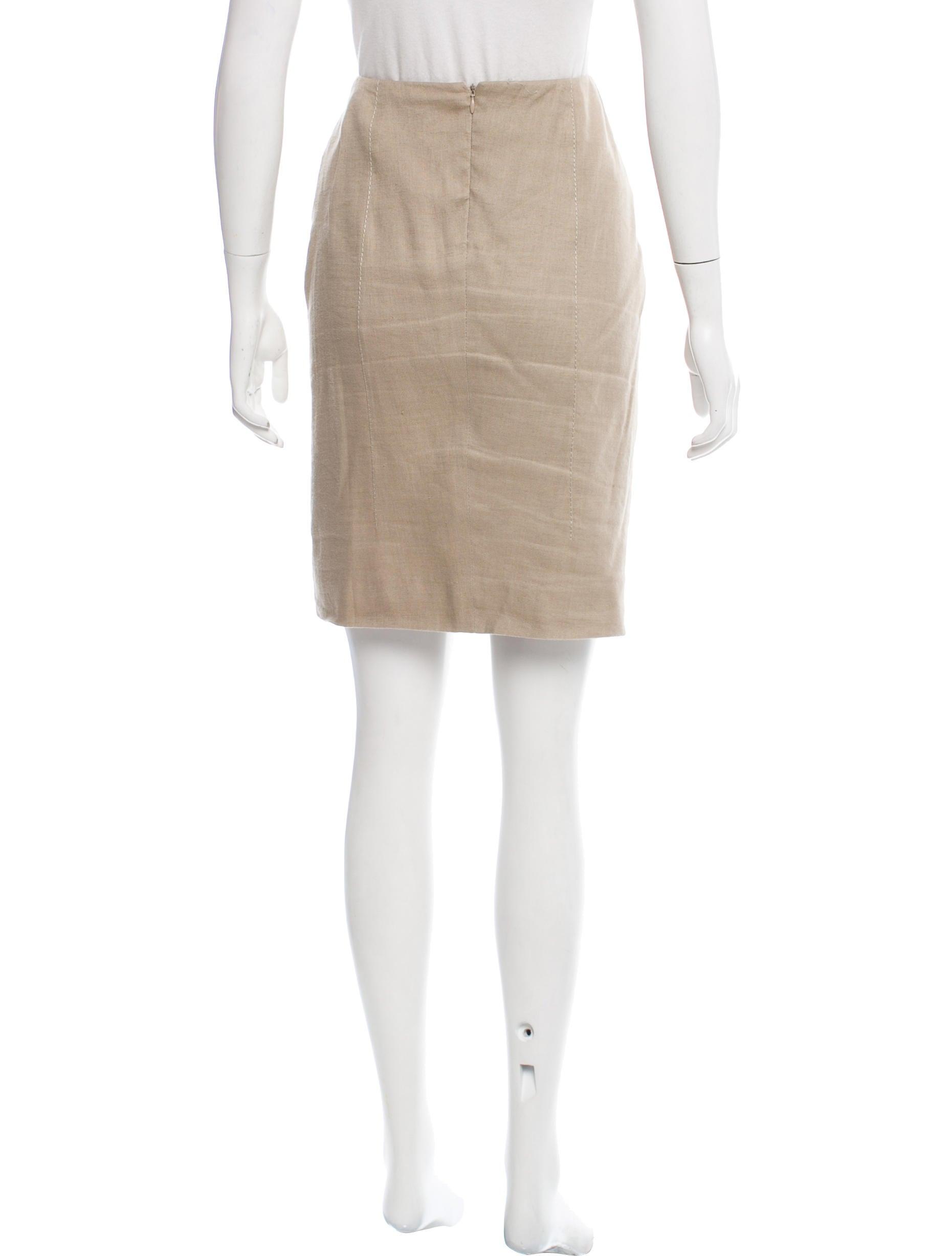 valentino knee length linen skirt clothing val64987