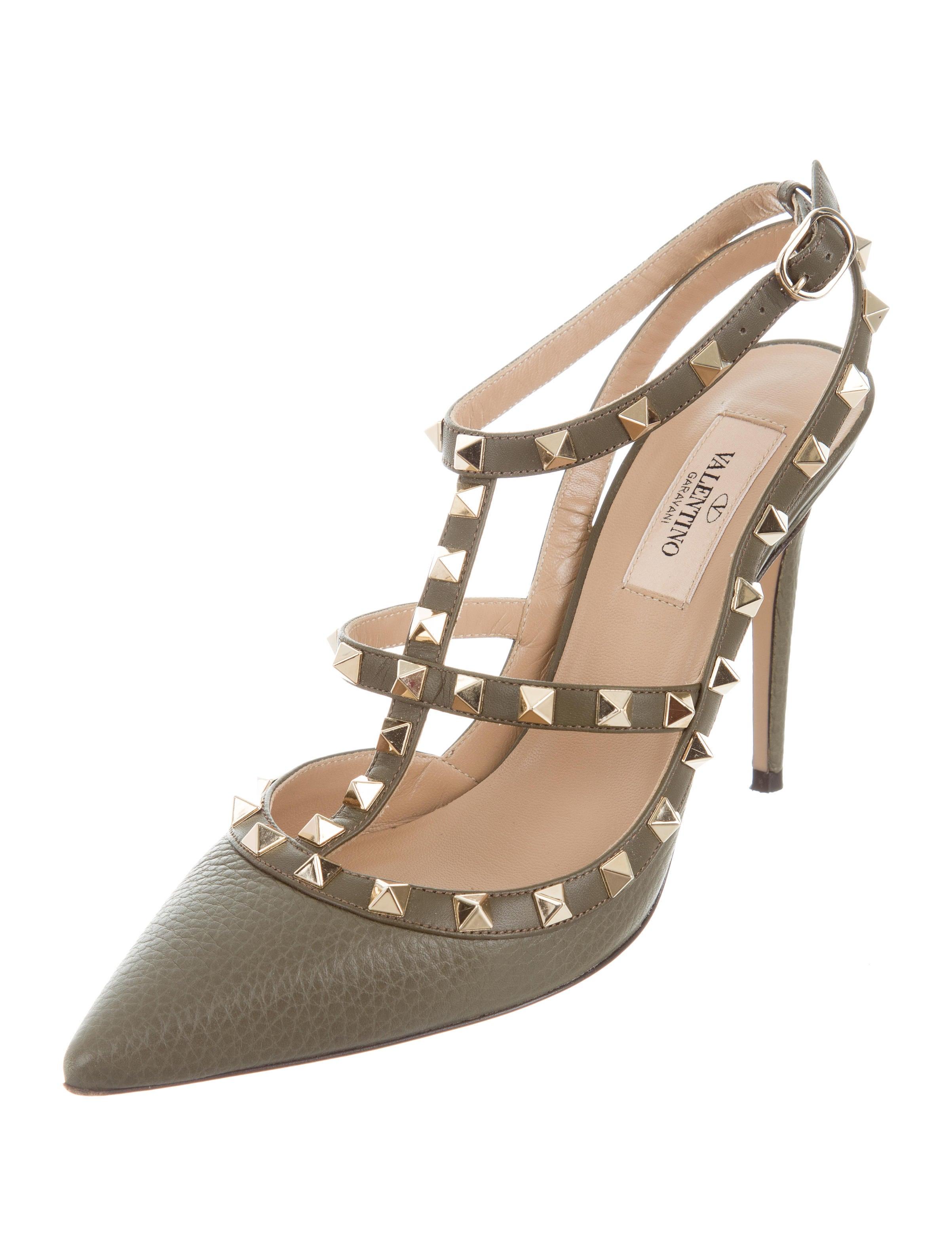 valentino rockstud ankle strap pumps shoes val65066. Black Bedroom Furniture Sets. Home Design Ideas