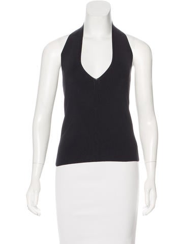 Valentino Rib Knit Halter Top None